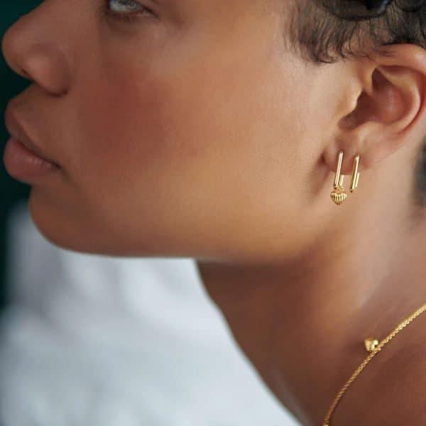 gold oval heart hoops from rachel jackson at silverado jewellery