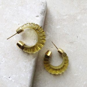 green glass esme earrings by shyla london