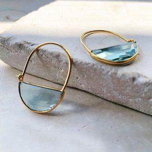 Imogen mini light blue shyla earrings
